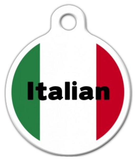 Dog Tag Art Italian Flag Pet ID Dog Tag