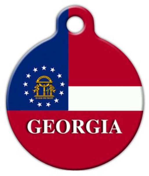 Dog Tag Art Georgia Flag Pet ID Dog Tag