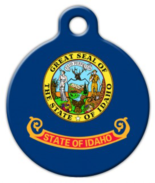 Dog Tag Art Idaho Flag Pet ID Dog Tag