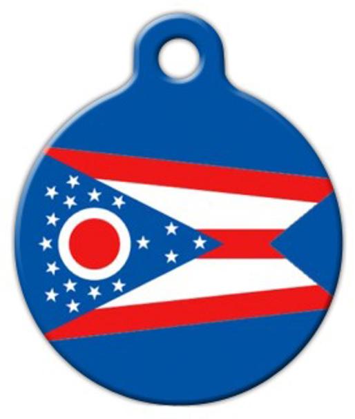 Dog Tag Art Ohio Flag Pet ID Dog Tag