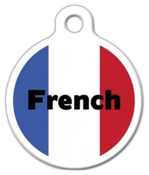 Dog Tag Art French Flag Pet ID Dog Tag