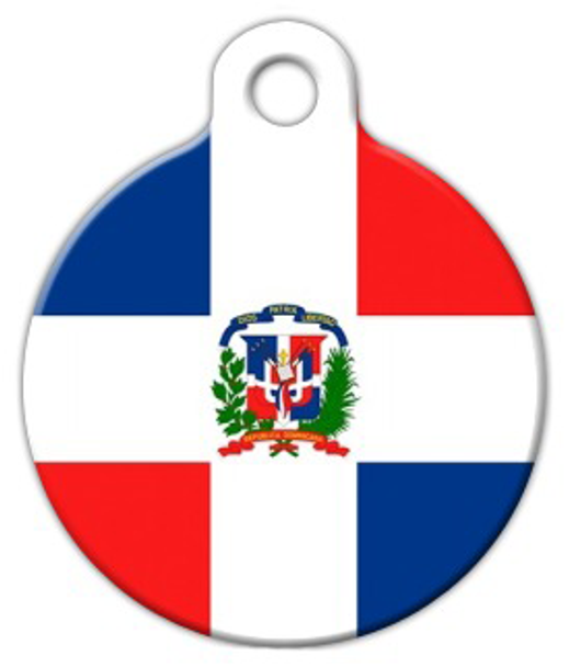 Dog Tag Art Flag of the Dominican Republic Pet ID Dog Tag