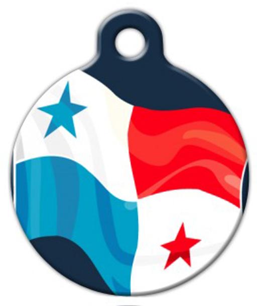 Dog Tag Art Panama Flag Pet ID Dog Tag
