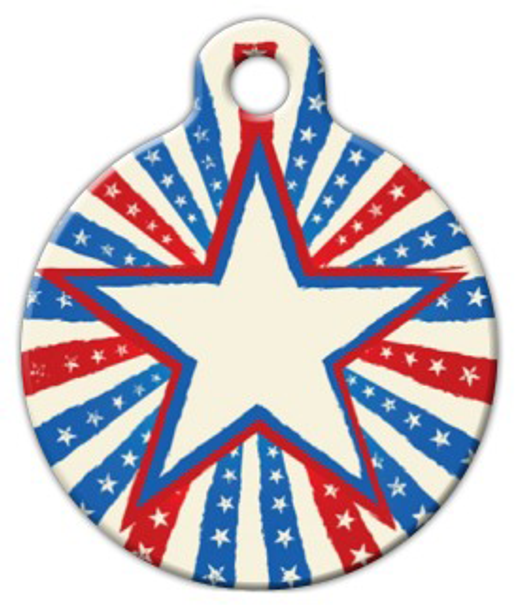 Dog Tag Art Patriotic Star Pet ID Dog Tag