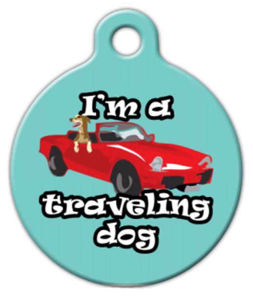 Dog Tag Art I'm a Traveling Dog Pet ID Dog Tag