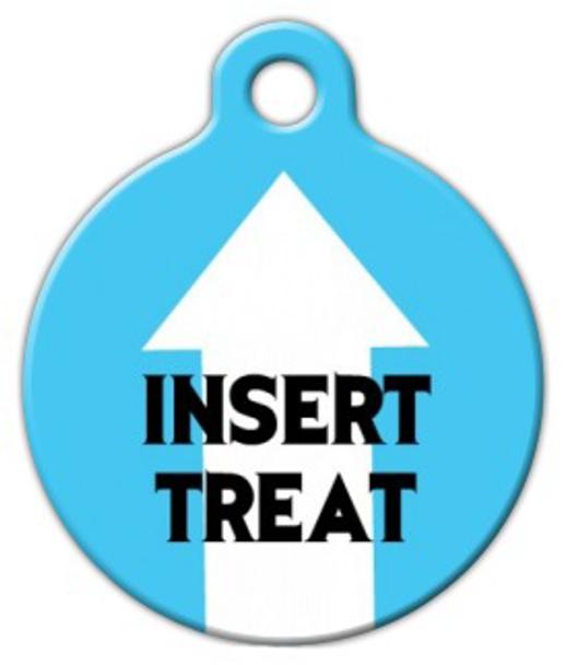 Dog Tag Art Insert Treat Pet ID Dog Tag