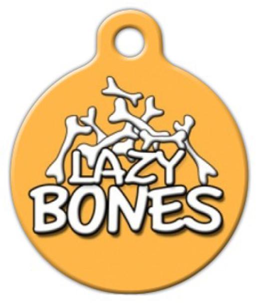 Dog Tag Art Lazy Bones Pet ID Dog Tag