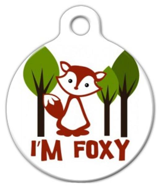 Dog Tag Art I'm FOXY Pet ID Dog Tag