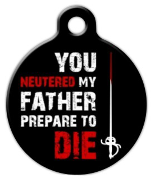 Dog Tag Art Prepare To Die Pet ID Dog Tag