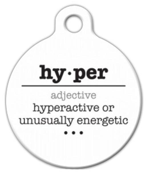 Dog Tag Art Hyper Word Definition Pet ID Dog Tag