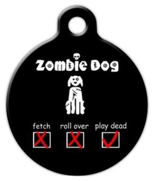 Dog Tag Art Zombie Check List Pet ID Dog Tag