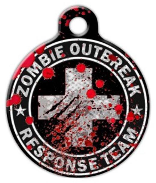 Dog Tag Art Zombie Outbreak Response Team Medic Pet ID Dog Tag