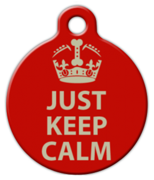 Dog Tag Art Just Keep Calm Pet ID Dog Tag