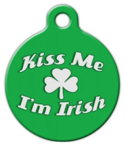 Dog Tag Art Kiss Me I'm Irish Pet ID Dog Tag