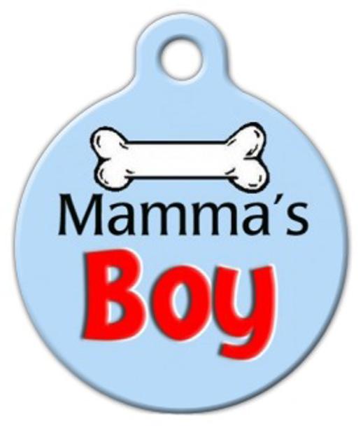Dog Tag Art Mama's Boy Pet ID Dog Tag