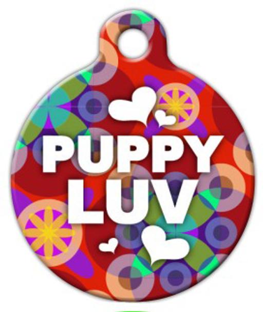 Dog Tag Art Puppy Luv Pet ID Dog Tag
