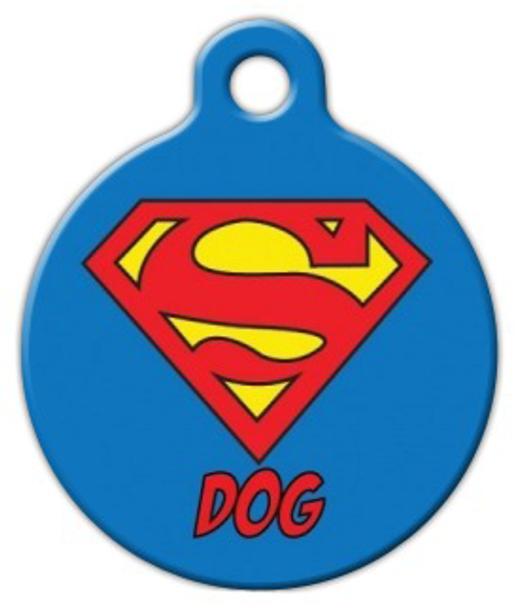 Dog Tag Art Super Dog Symbol Pet ID Dog Tag