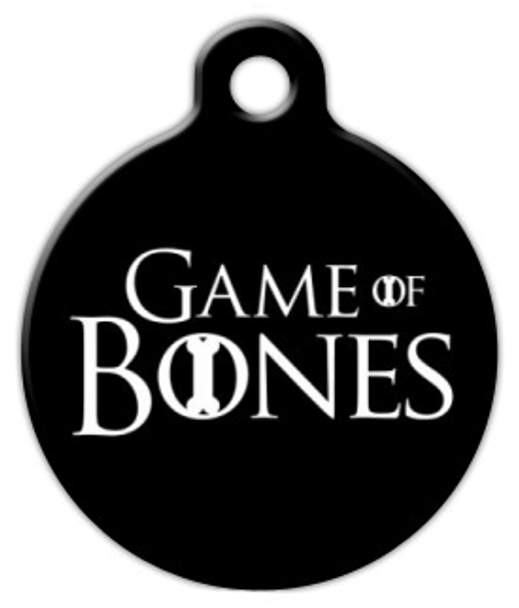 Dog Tag Art Game of Bones Pet ID Dog Tag