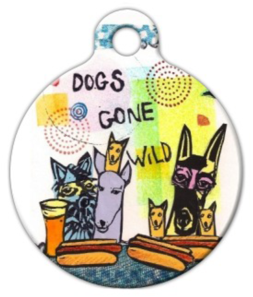 Dog Tag Art Dogs Gone Wild Pet ID Dog Tag