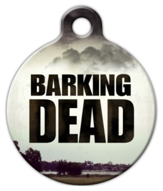 Dog Tag Art Barking Dead Pet ID Dog Tag