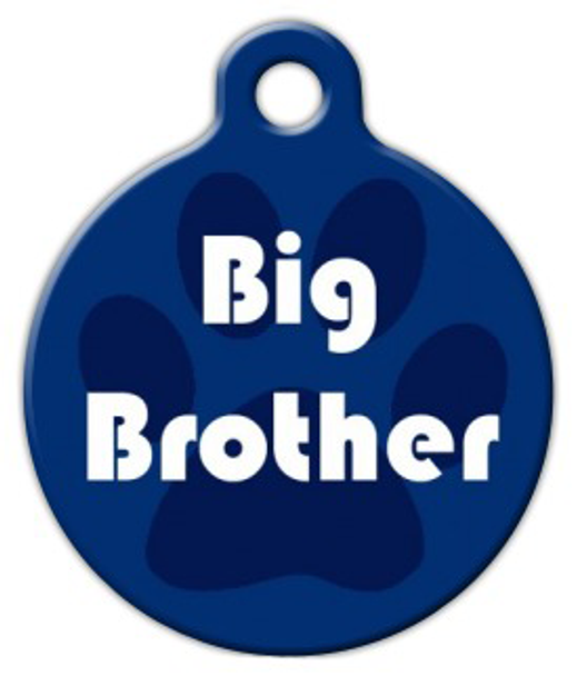Dog Tag Art Big Brother Pet ID Dog Tag