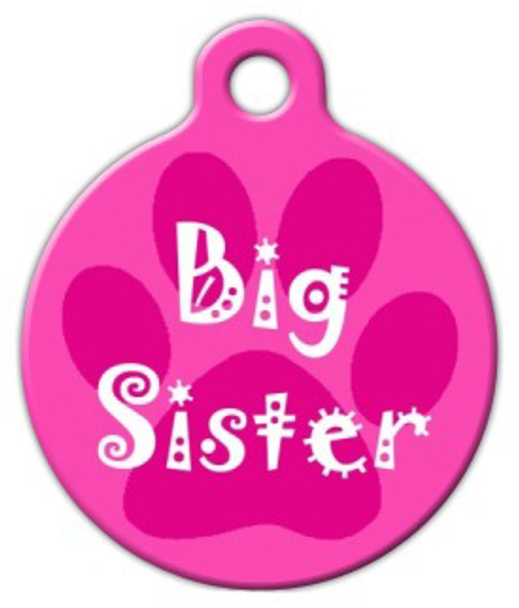 Dog Tag Art Big Sister Pet ID Dog Tag
