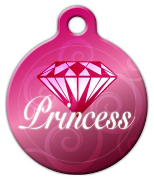 Dog Tag Art Diamond Princess Pet ID Dog Tag