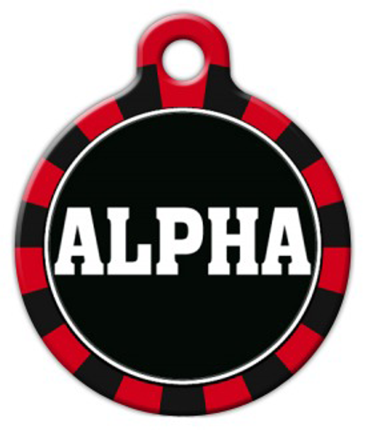 Dog Tag Art Alpha Pet ID Dog Tag