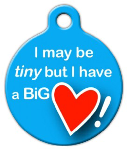 Dog Tag Art Big Heart Pet ID Dog Tag