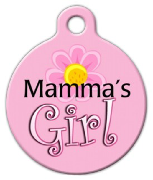 Dog Tag Art Mama's Girl Pet ID Dog Tag