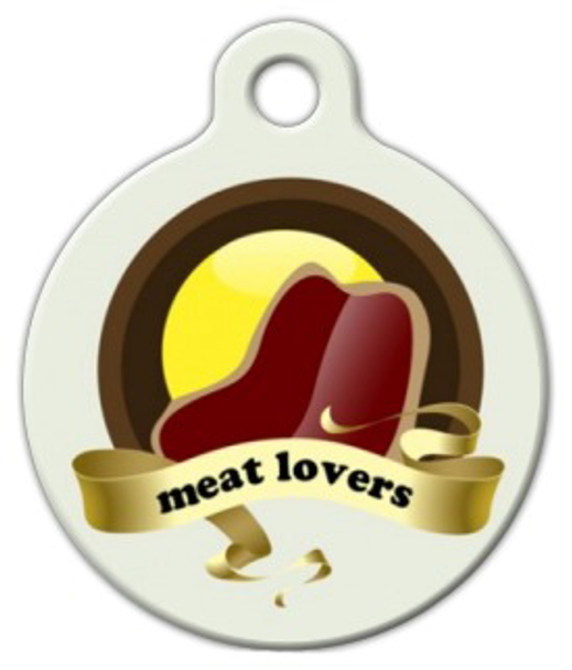Dog Tag Art Meat Lovers Pet ID Dog Tag