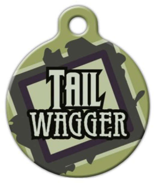 Dog Tag Art Tail Wagger Pet ID Dog Tag