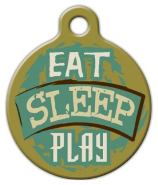 Dog Tag Art Eat Sleep Play Pet ID Dog Tag