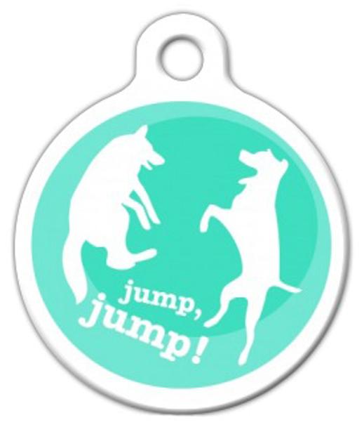 Dog Tag Art Jump, Jump! Pet ID Dog Tag
