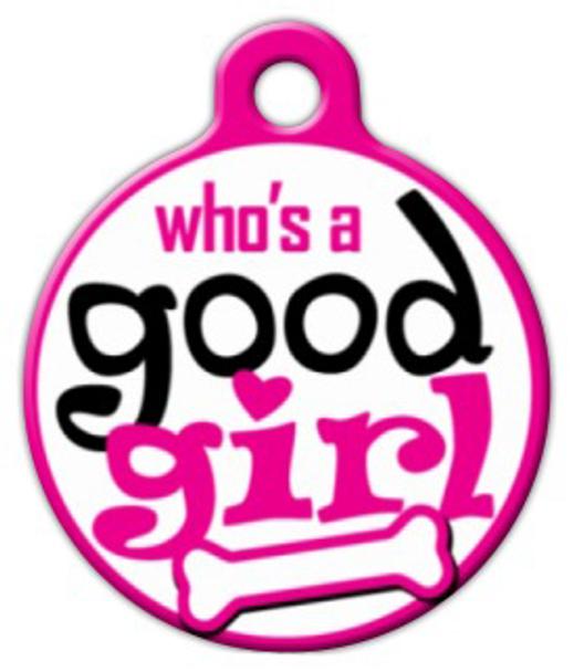 Dog Tag Art Good Girl Pet ID Dog Tag