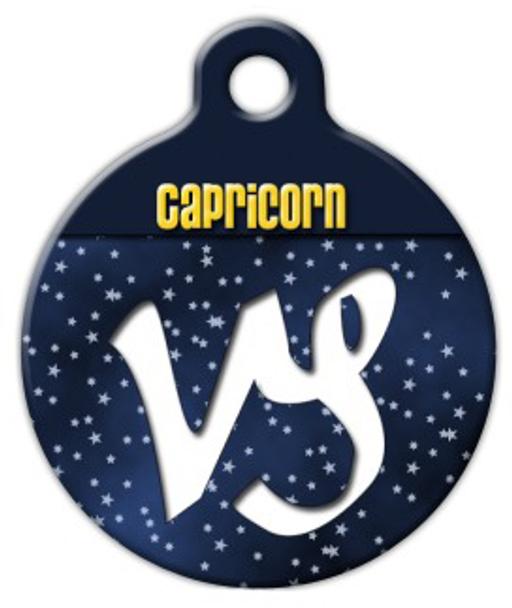 Dog Tag Art Capricorn Symbol Pet ID Dog Tag