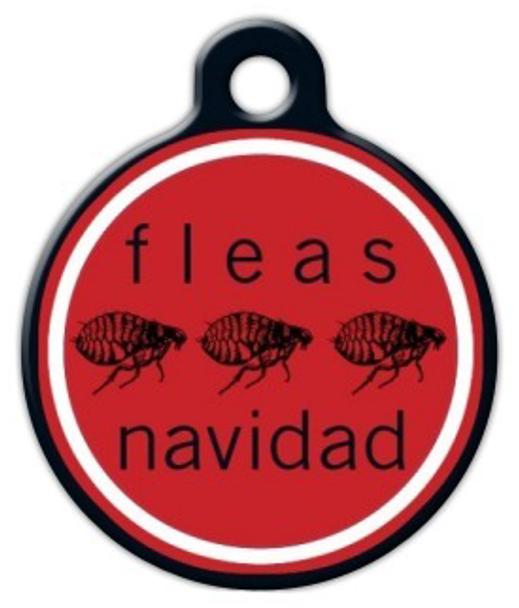 Dog Tag Art Fleas Navad Pet ID Dog Tag