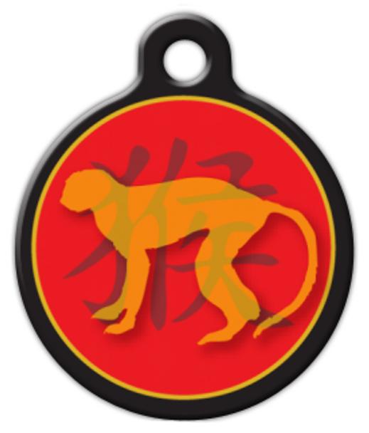 Dog Tag Art Chinese Zodiac Monkey Pet ID Dog Tag