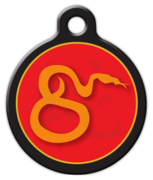 Dog Tag Art Chinese Zodiac Snake Pet ID Dog Tag