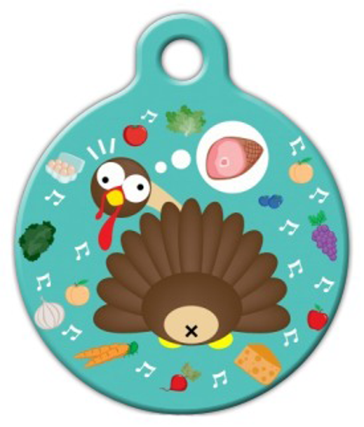 Dog Tag Art Gobble Gobble Pet ID Dog Tag