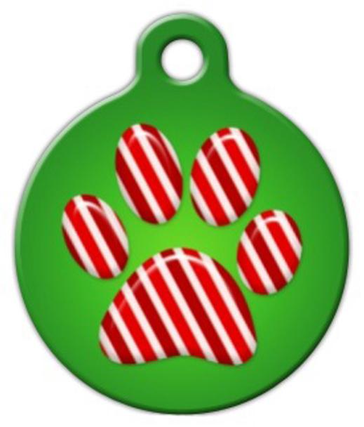 Dog Tag Art Peppermint Paws Pet ID Dog Tag