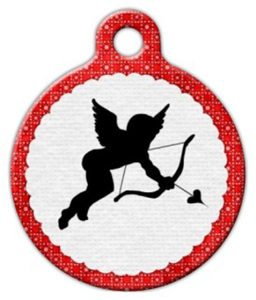 Dog Tag Art Cupid Pet ID Dog Tag