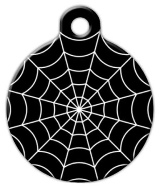 Dog Tag Art Spider Web Pet ID Dog Tag