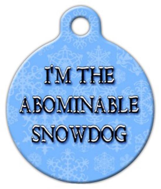 Dog Tag Art The Abominable Snowdog Pet ID Dog Tag
