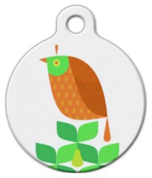 Dog Tag Art Partridge Pear Tree Pet ID Dog Tag