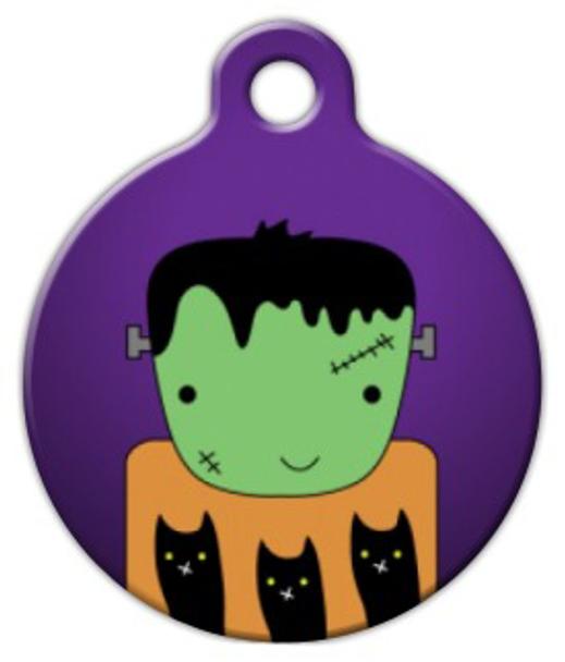 Dog Tag Art Frankenstein Halloween Pet ID Dog Tag