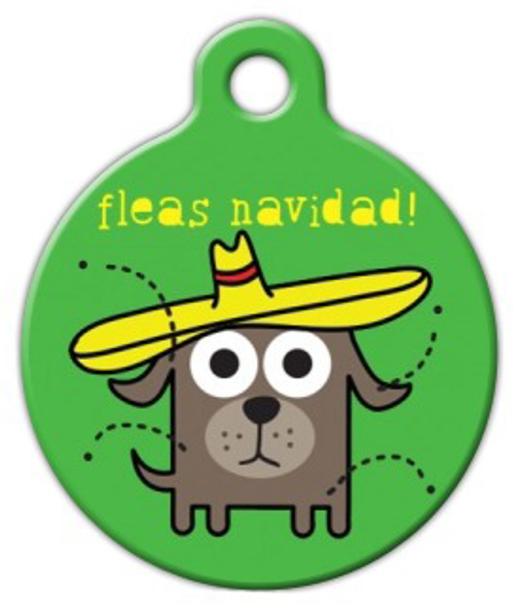 Dog Tag Art Fleas Navad! Pet ID Dog Tag