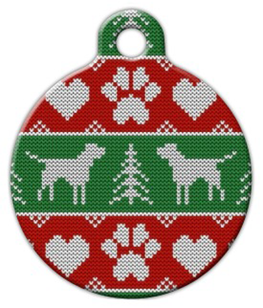 Dog Tag Art Tacky Doggie Christmas Sweater Pet ID Dog Tag