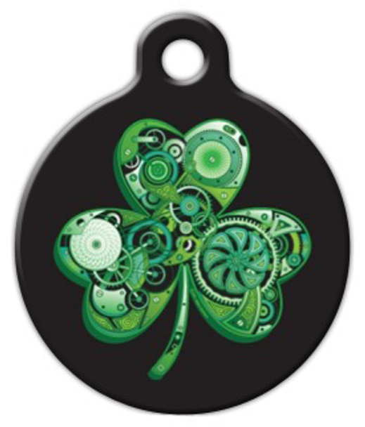 Dog Tag Art Lean Green Irish Machine Pet ID Dog Tag
