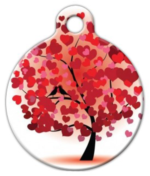 Dog Tag Art Love Birds Pet ID Dog Tag